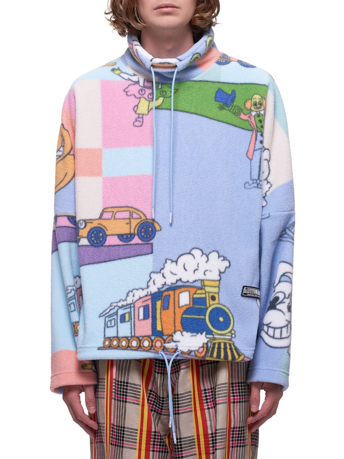 Cartoon Fleece Pullover (626-BLUE-TOON)