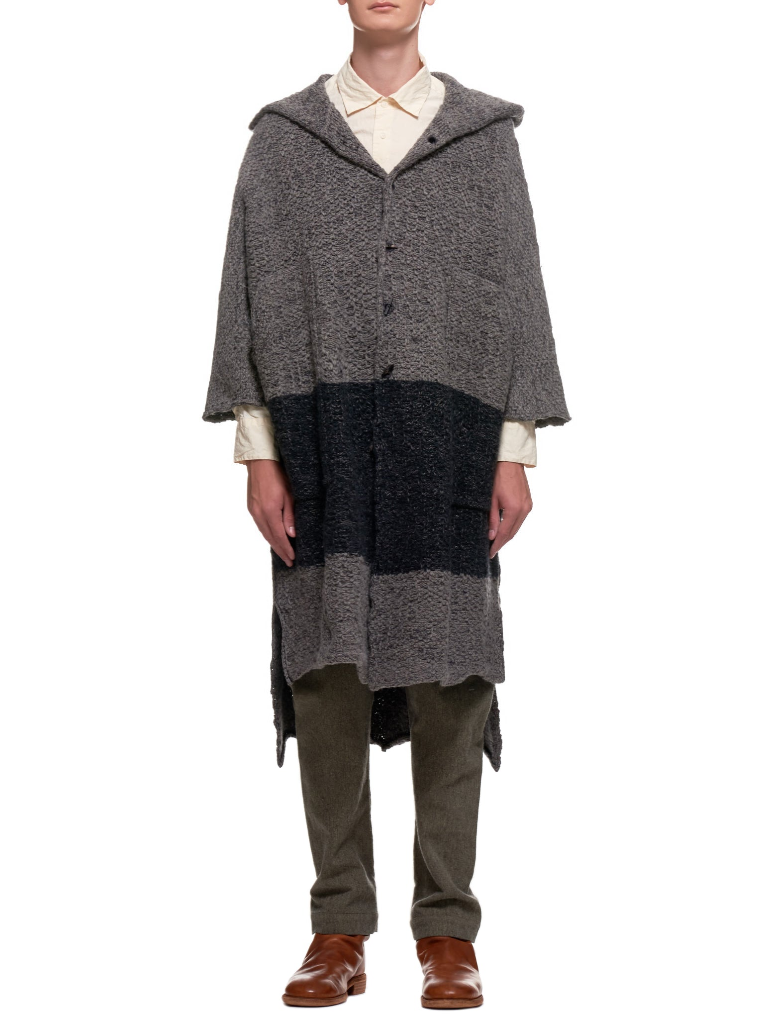 Oversized Archer's Coat (A66-1855-GRAY-ANTHRACITE)