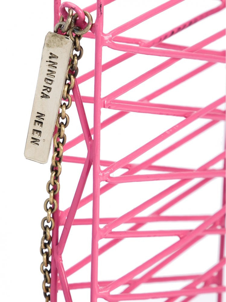 Caged Metal Phone Case (AN9A07 CRISS-CROSS PINK) - H. Lorenzo