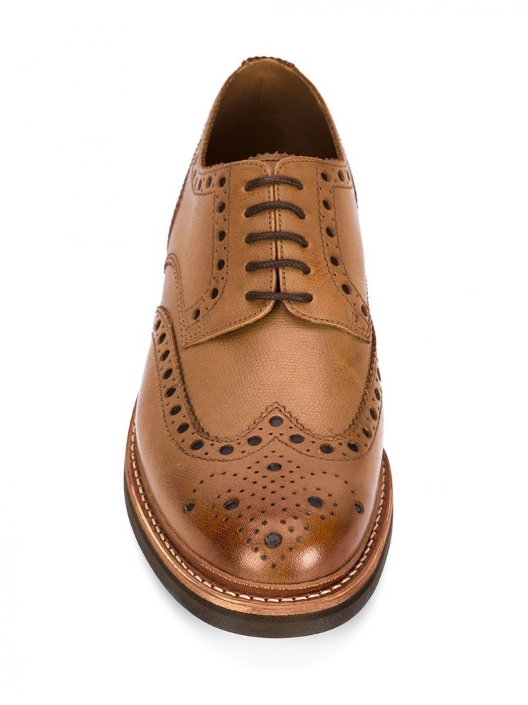 Leather Brouge (5067/451C G  ARCHIE TAN) - H. Lorenzo