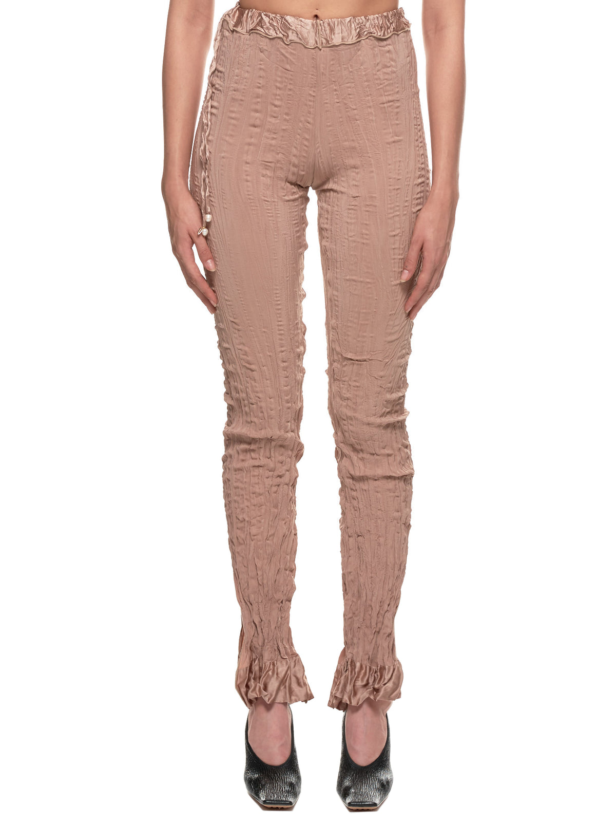 Crushed Elongated Trousers (716-S001-110-SAND)