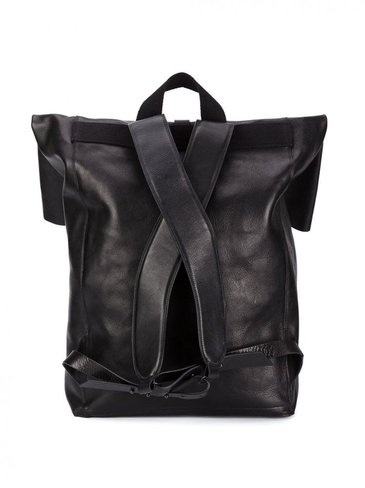 Leather Knapsack (IB1701 BLACK) - H. Lorenzo