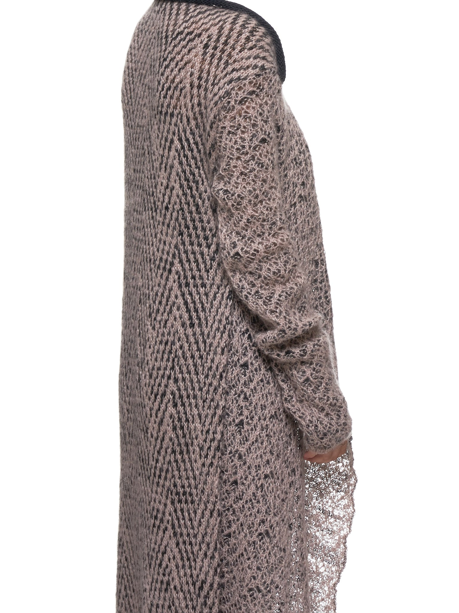 Knitted Cardigan (71966-016-LIGHT-PINK-BLACK)