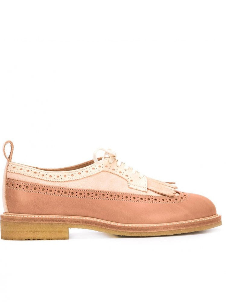 Fringed Natural Leather Brogue (DE-S-GUL NATURAL)