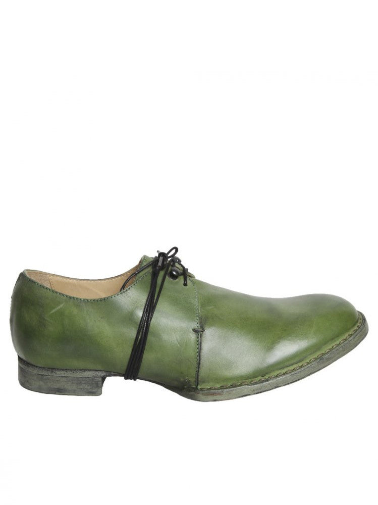 Object-Dyed Leather Derby (BN XX GREEN)
