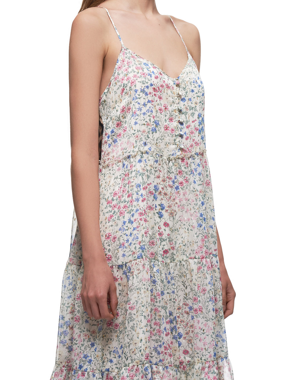 Midi Tiered Slip Dress (7657L-269L-ECRU-FLORAL)