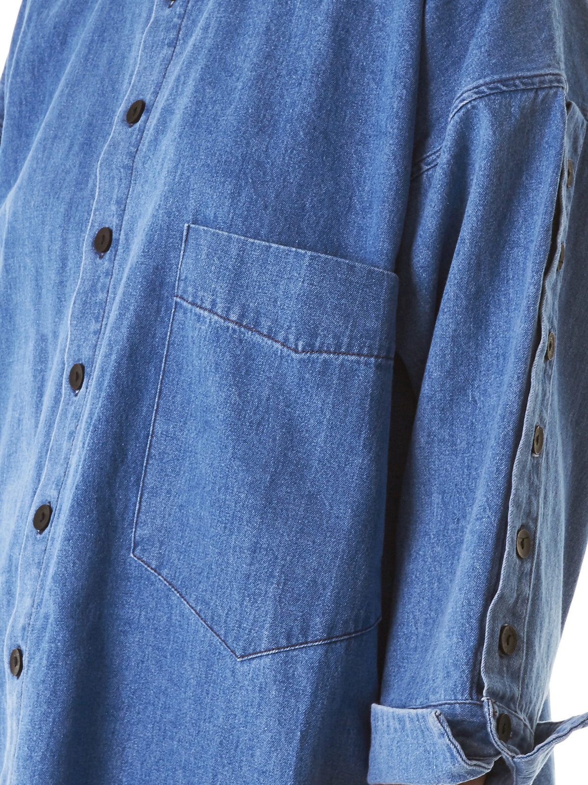 Deconstructed Button-Down (782-BUTTON-UP-DENIM-MEDLIGHT) - H. Lorenzo
