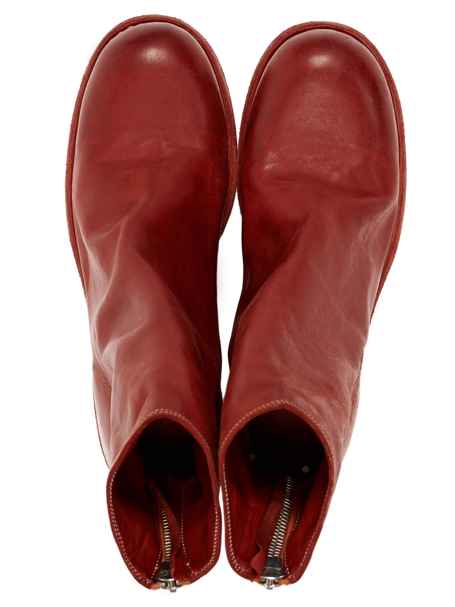 796Z Soft Horse Leather Boots (796Z-SOFT-HORSE-FG-RED)