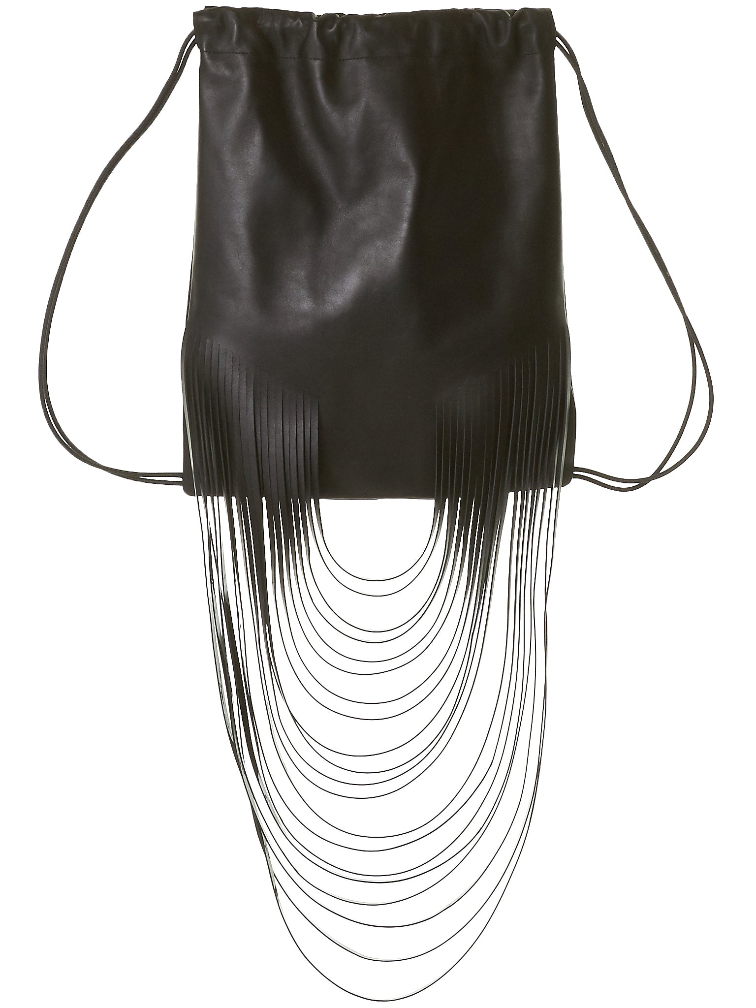 Fringed Athletic Knapsack (8.15 OVERSIZED FRINGED BP BLK)