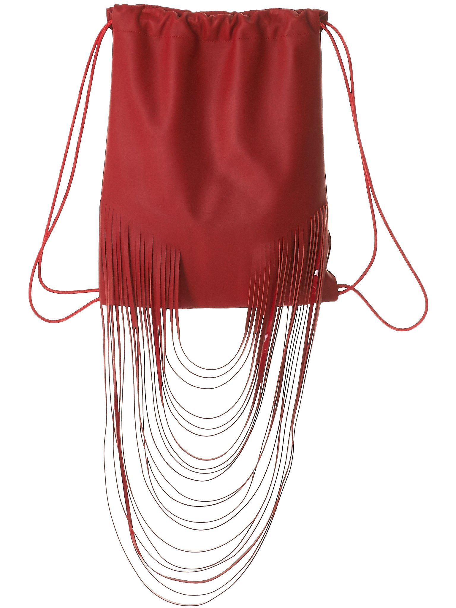 Fringed Athletic Knapsack (8.15 OVERSIZED FRINGED BP RED)