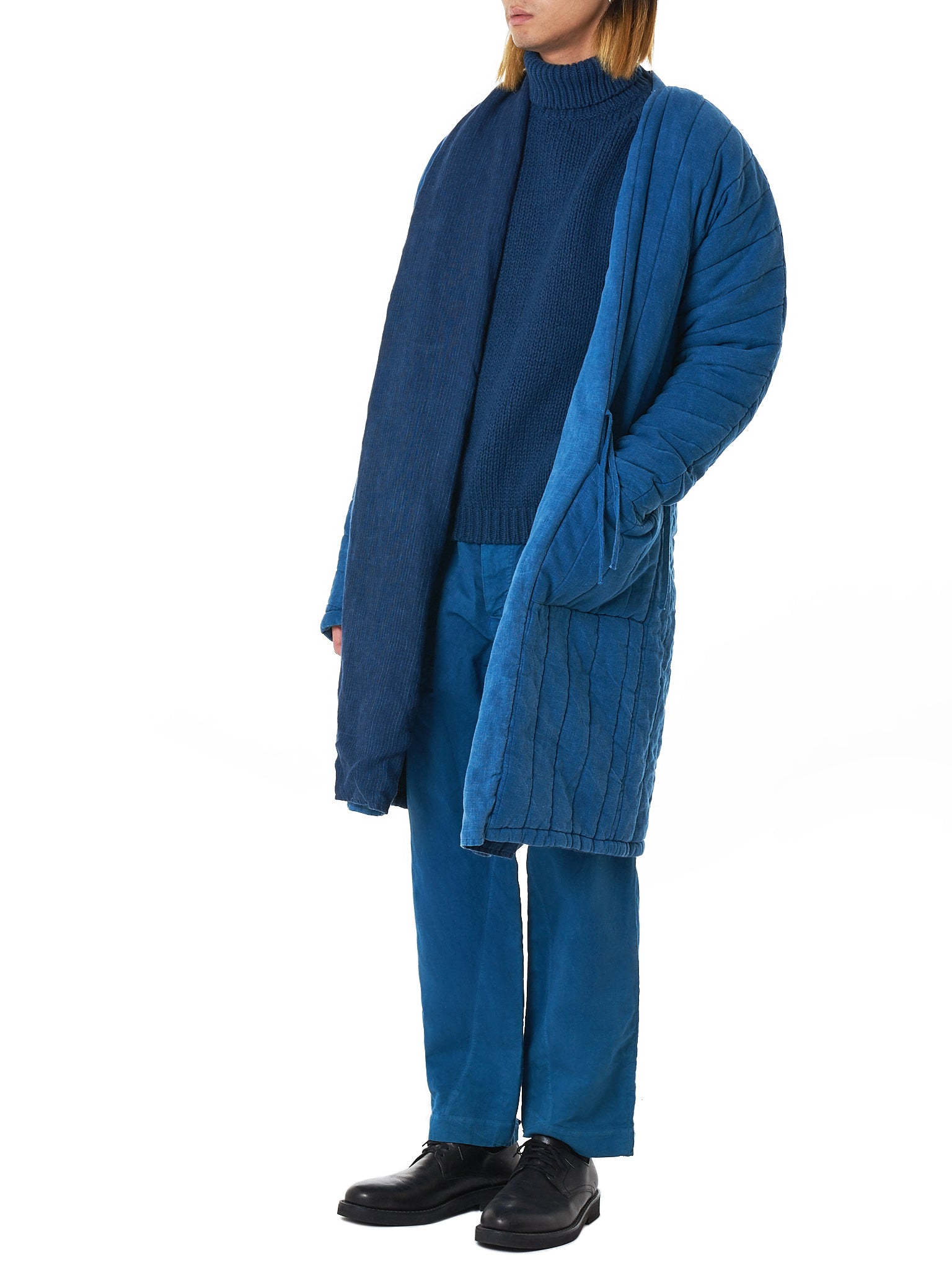 Bleu de Cocagne Turtleneck Sweater - Hlorenzo Style