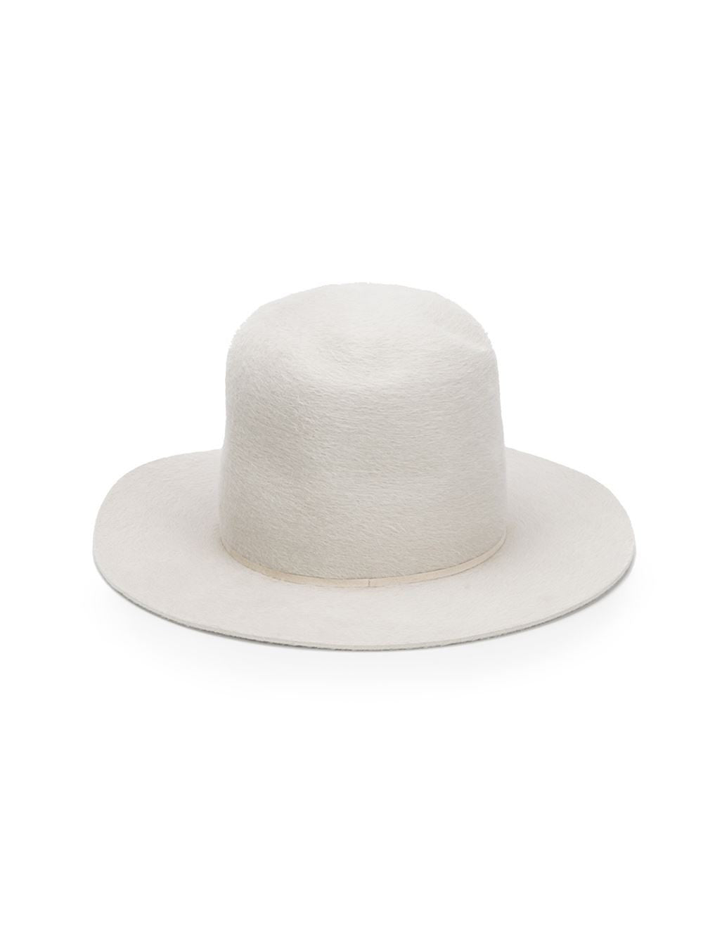 Hi-Crown Rabbit Felt Hat (01/AI15 DIRTY WHITE) - H. Lorenzo