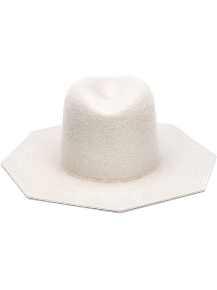 8-Sided Rabbit Felt Hat (05/AI15  DIRTY WHITE) - H. Lorenzo
