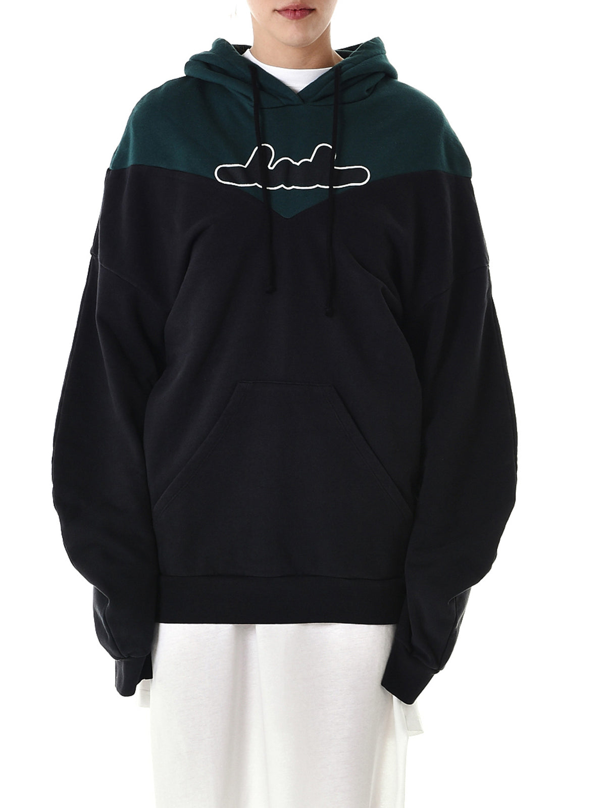 Embroidered Hooded Sweater (81-1330-BLACK)