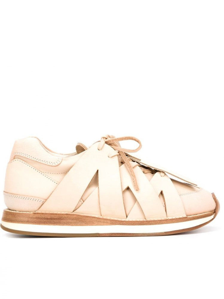 Natural Leather Strapped Trainer (ES-S-HS NATURAL)
