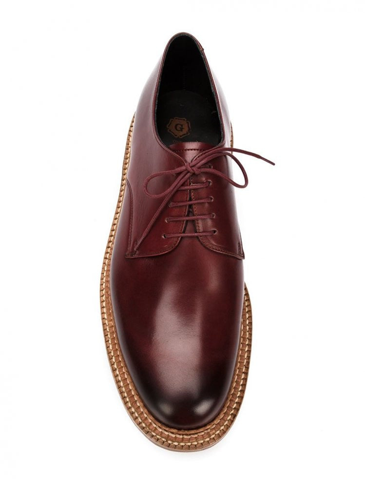 Hand-Dyed 'Curt' Derby (110255 CURT BORDEAUX) - H. Lorenzo