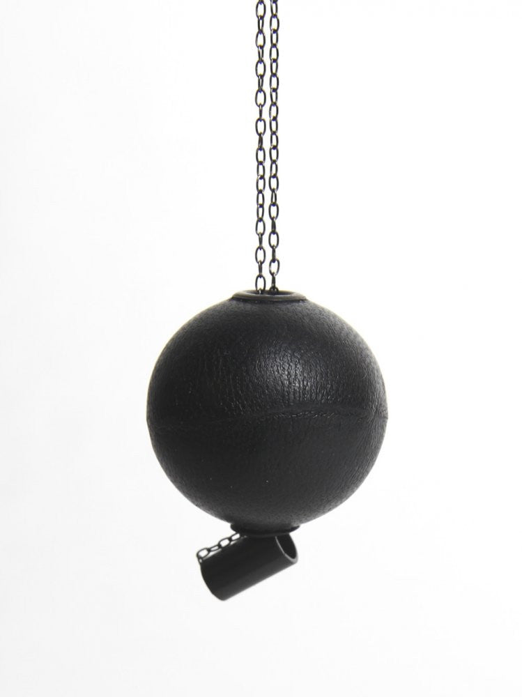 Leather Sphere Necklace (SPHERE NECKLACE BLACK) - H. Lorenzo