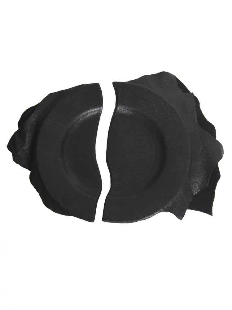 Leather Wrapped Broken Dish (BROKEN DISH FLAT BLACK) - H. Lorenzo