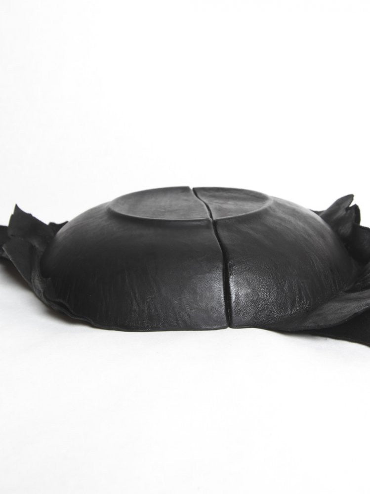 Leather Wrapped Broken Bowl (BROKEN DISH DEEP ROUND BLACK) - H. Lorenzo
