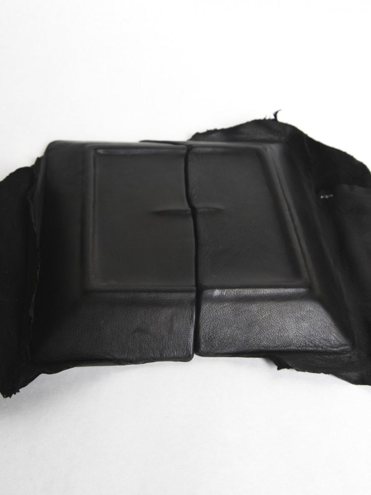 Leather Wrapped Broken Plate (BROKEN DISH SQUARE-BIG BLACK) - H. Lorenzo