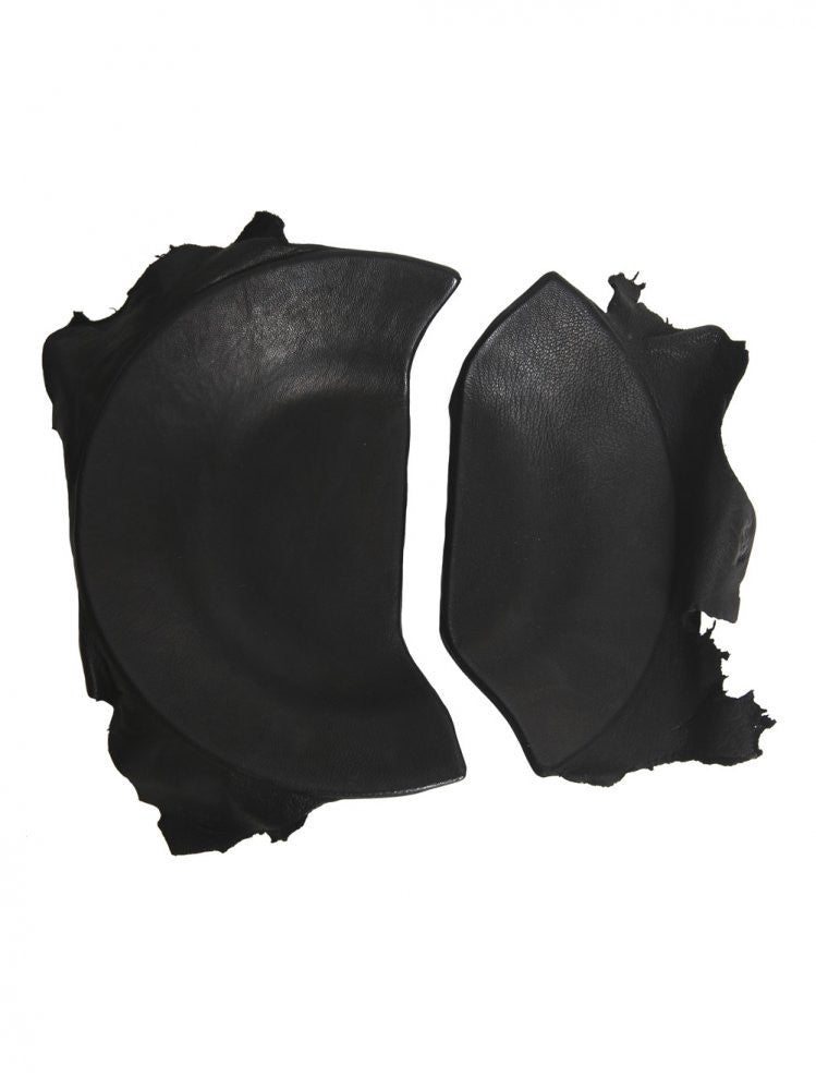 Leather Wrapped Broken Dish (BROKEN DISH ROUND BLACK) - H. Lorenzo