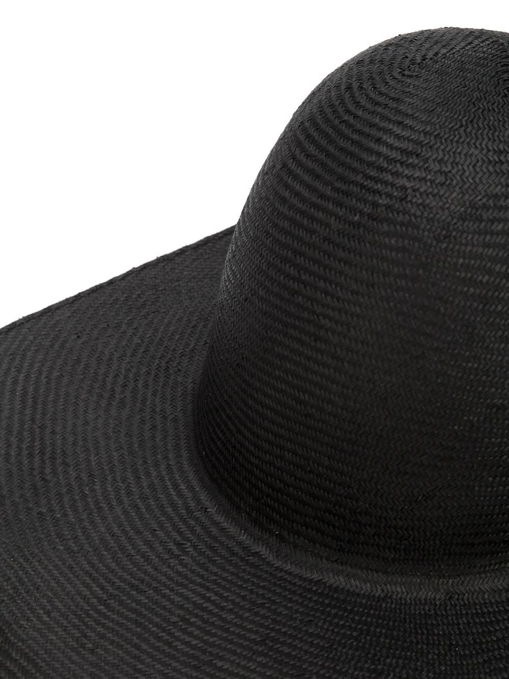 Floppy Straw Hat (LISA STRAW BLACK) - H. Lorenzo