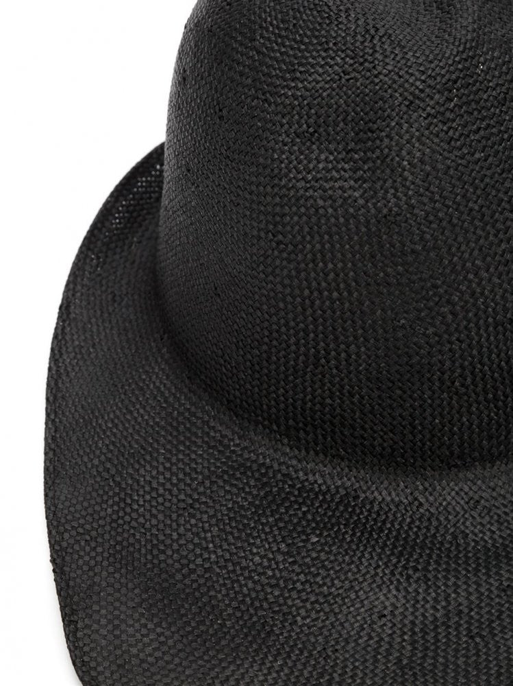 Black Straw Hat (LISA VISCOSE BLACK) - H. Lorenzo