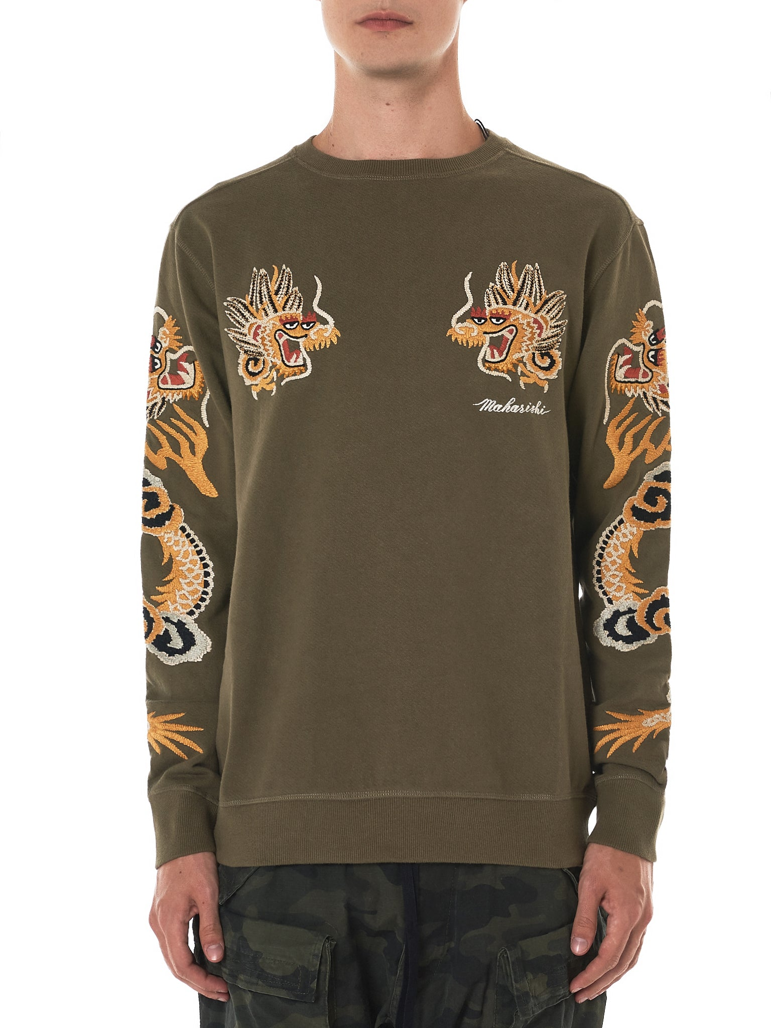 Clearance Store Fast Delivery Online Dragon Arm Embroidered Sweatshirt - Black maharishi Cheap Real Eastbay 1bqlwp8k7