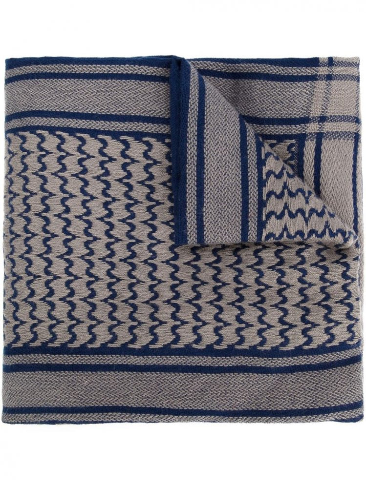 Woven Scarf (UCQ4S02 NAVY) - H. Lorenzo