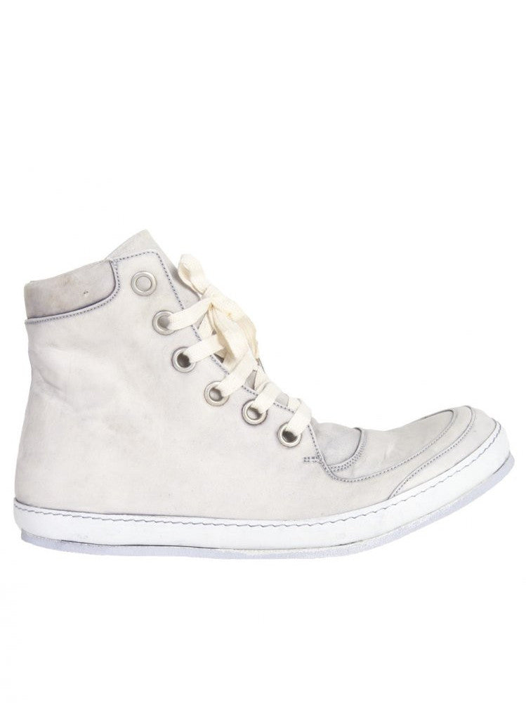 Lace-up Leather Hi-Top Shoe (S16-SSN5 HORSE ICE)