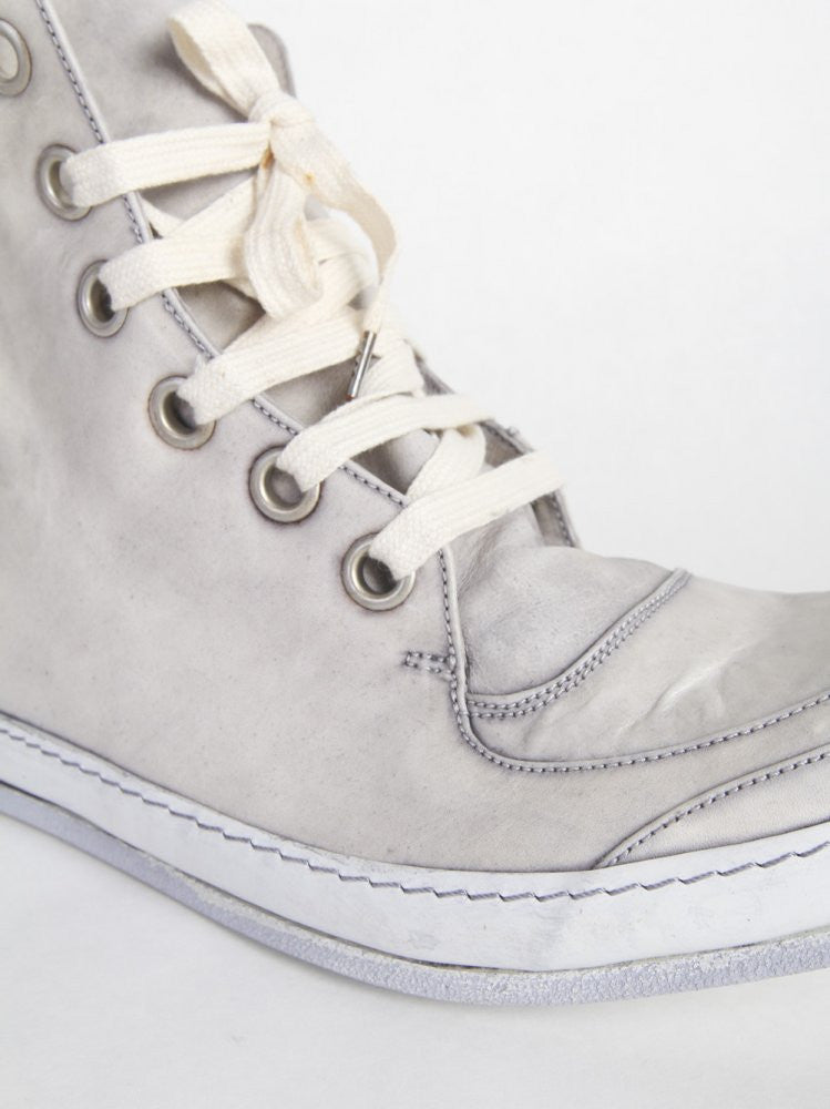 Lace-up Leather Hi-Top Shoe (S16-SSN5 HORSE ICE) - H. Lorenzo