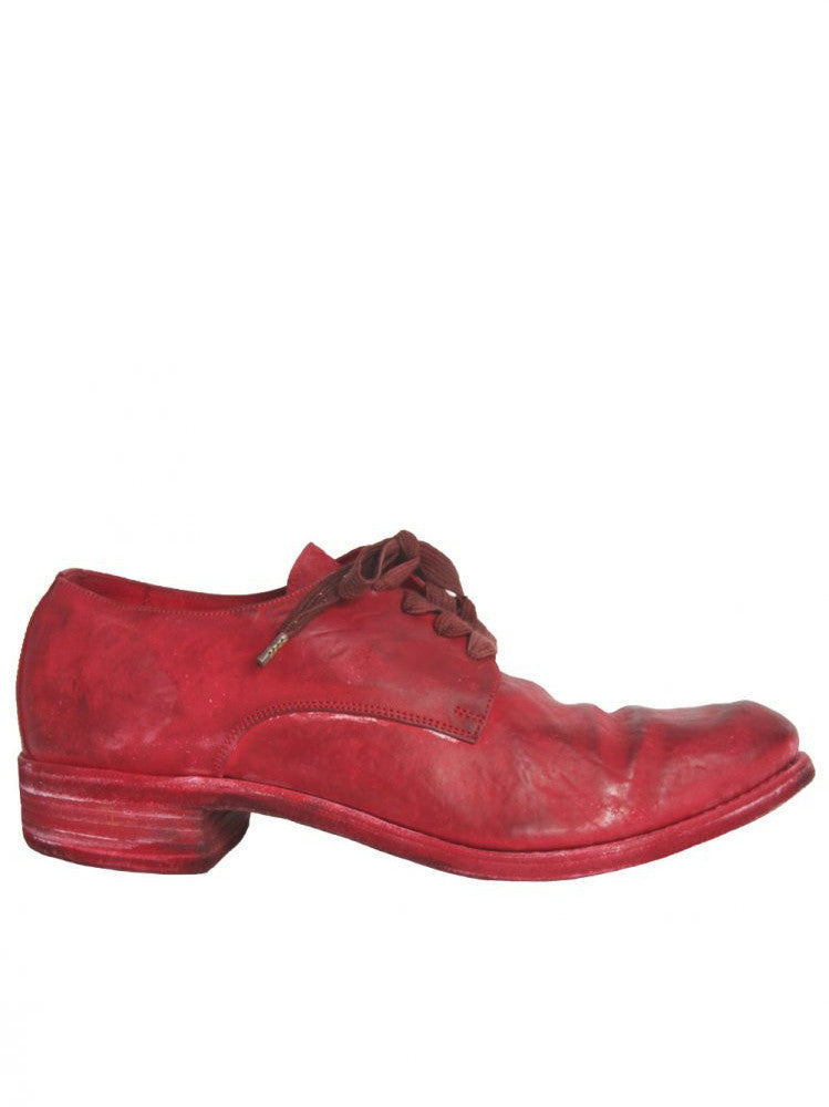 Horse Leather Lace-up Shoe (S16-033N HORSE CULATTA RED)