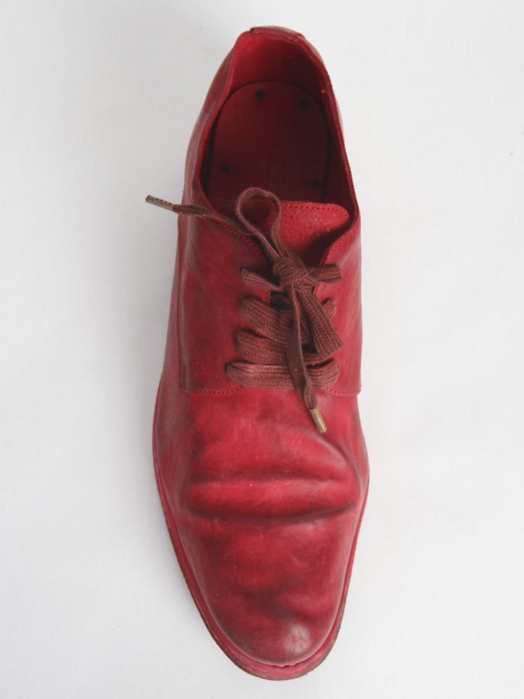 Horse Leather Lace-up Shoe (S16-033N HORSE CULATTA RED) - H. Lorenzo