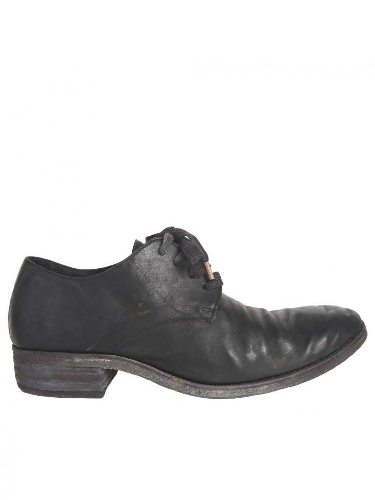 Horse Leather Lace-Up Shoe (S16-SS6 HORSE BLACK)