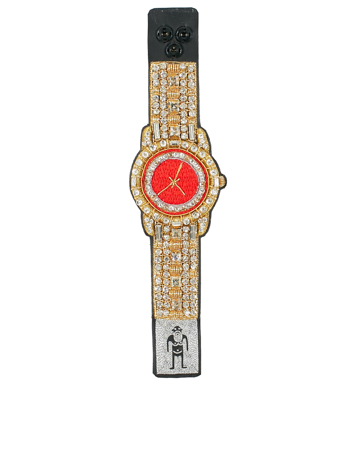 Watch Bracelet (9014-W-MAXI-GOLD-RED)