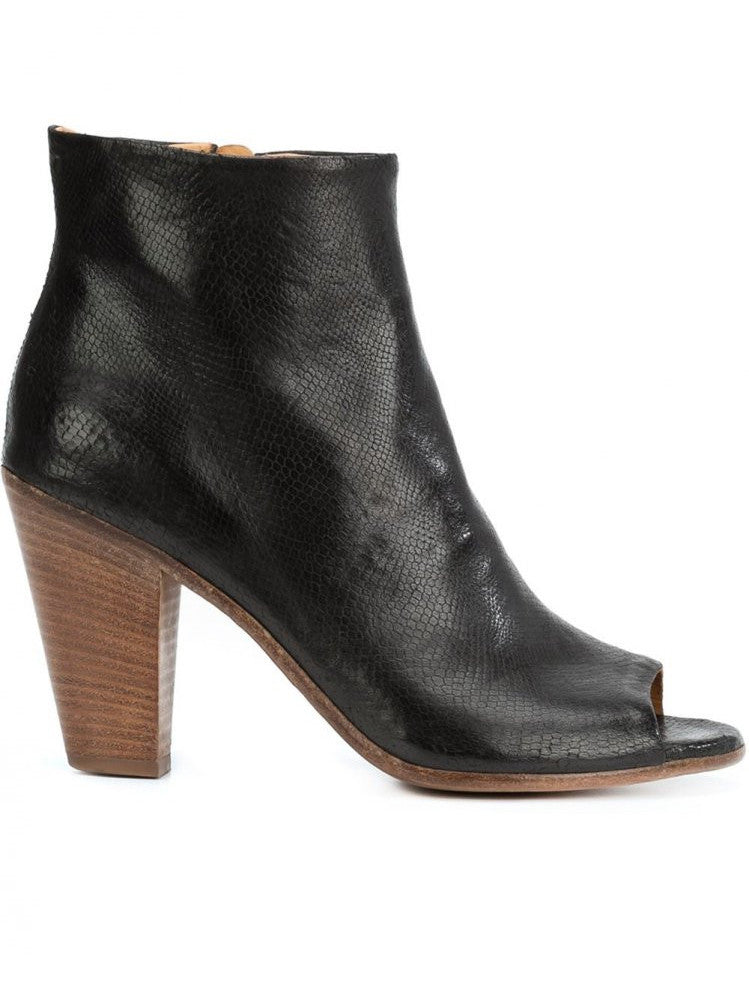 Peep-Toe Ankle Boot (SEIGNER/001 NERO)