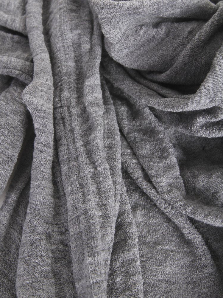 Object Dyed Scarf (S-002-WM2 GREY) - H. Lorenzo