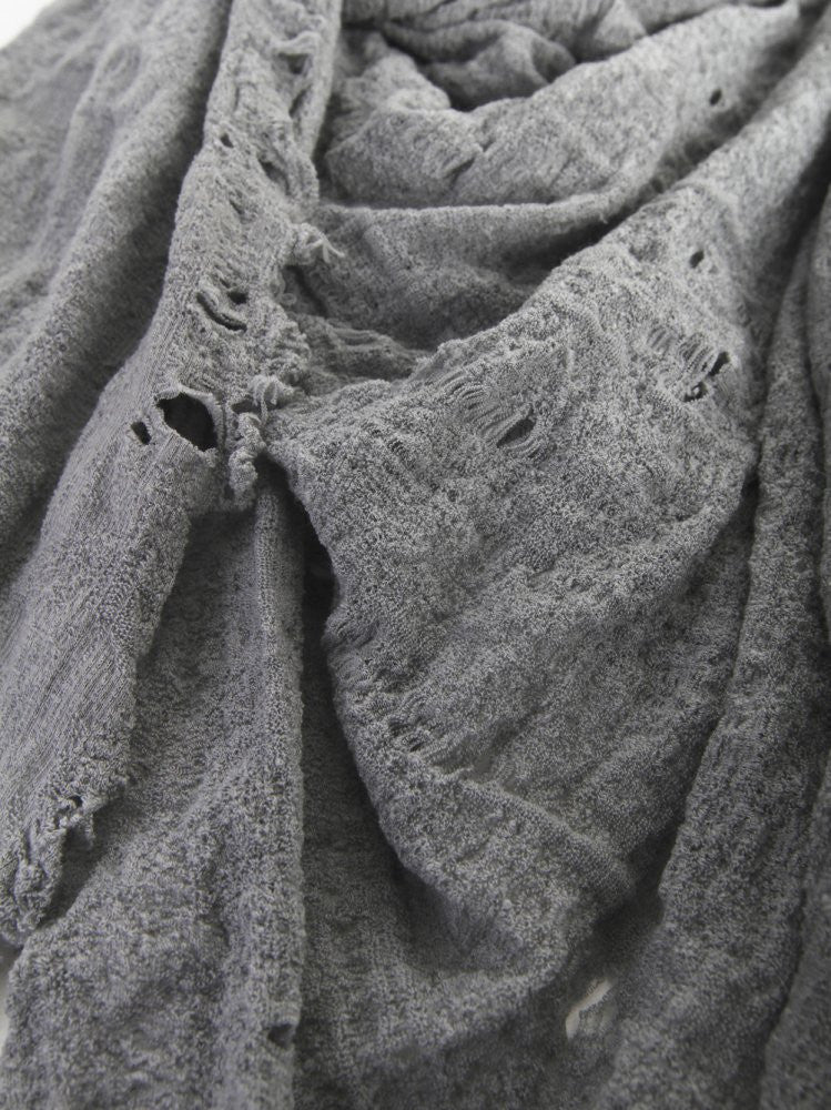 Object Dyed Scarf (S-002-WM11 SILVER GREY) - H. Lorenzo