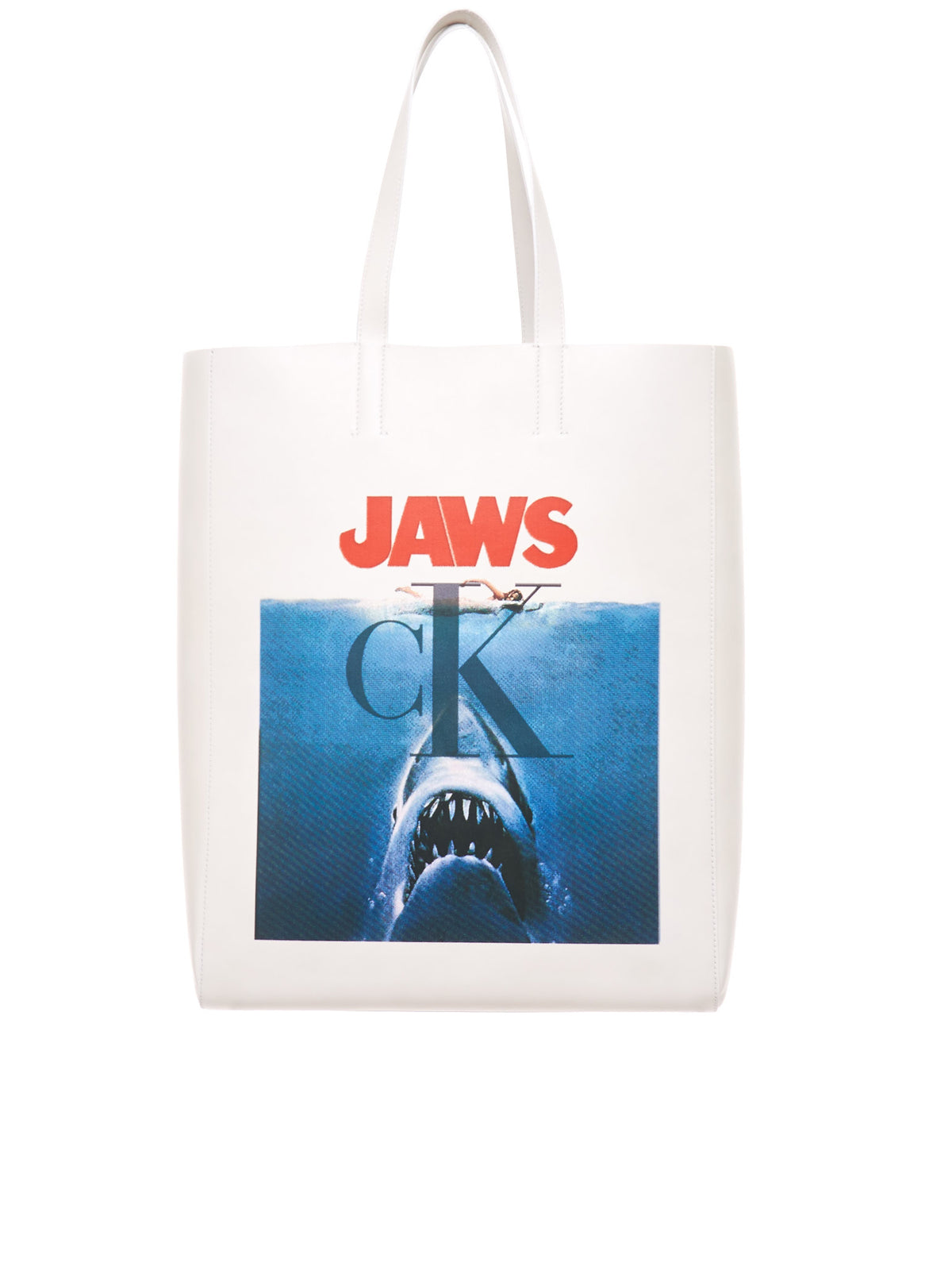 Jaws Leather Tote (92MLBA15-WHITE)