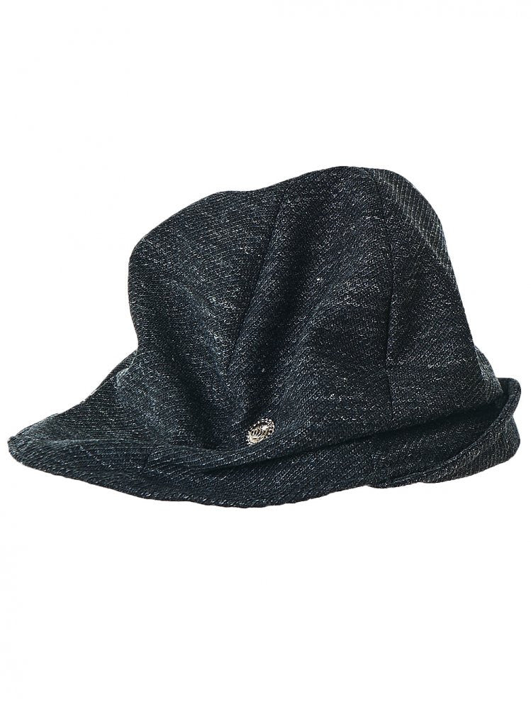 Slouched Hat (TAM01566 BLACK) - H. Lorenzo