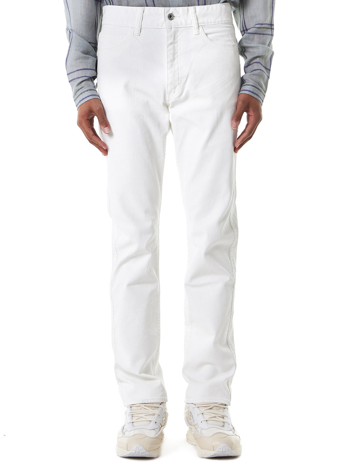 Slim-Fit Denim Jeans (961782-WHITE) - H. Lorenzo