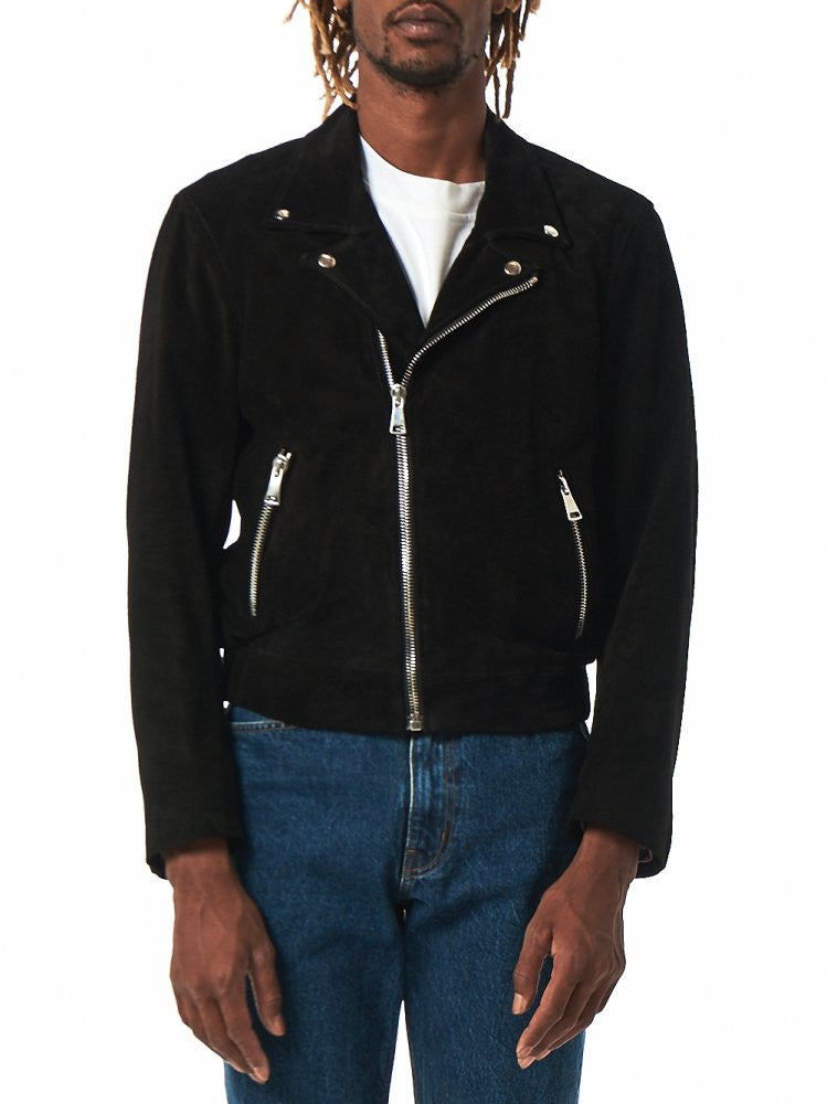 Leather Biker Jacket (SS16-202 BLACK) - H. Lorenzo