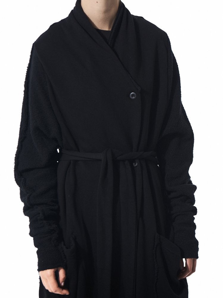 Textured Robe Coat (19.399.282R BLACK) - H. Lorenzo