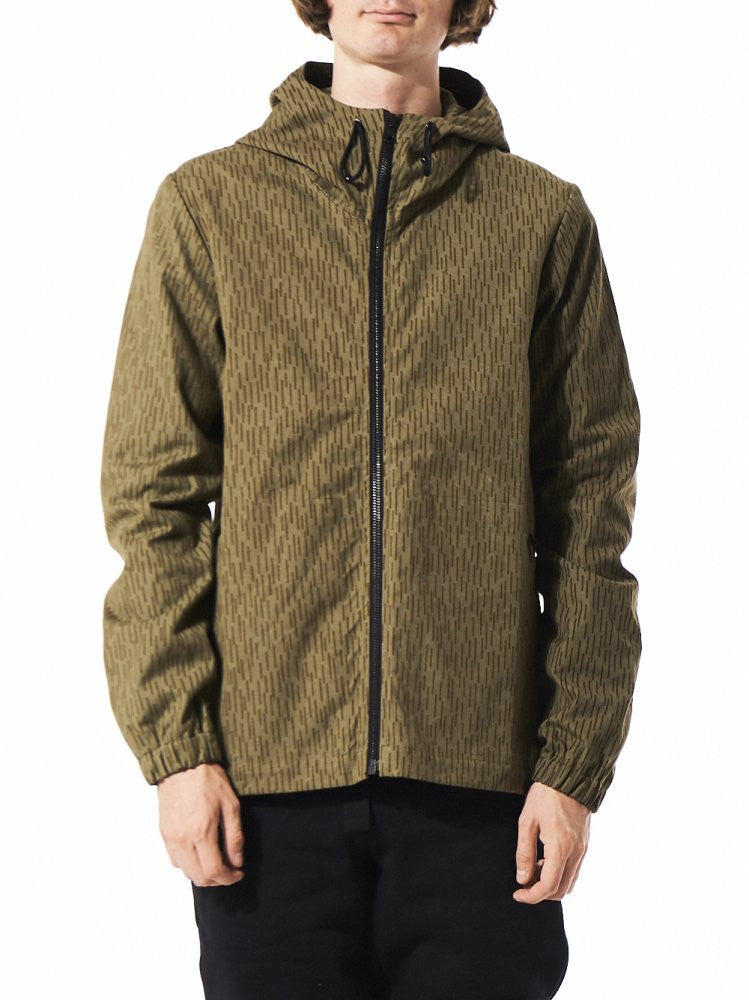 Hooded Windbreaker (MOT1008-R GREEN) - H. Lorenzo