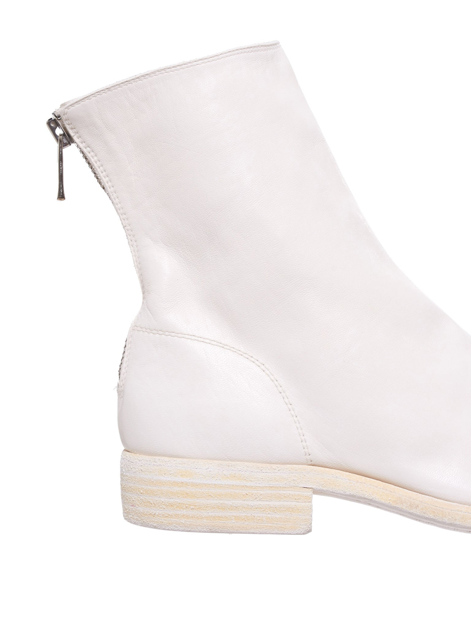 Object-Dyed Zipped Leather Boot (986-SOFT-HORSE-FG-CO00T)