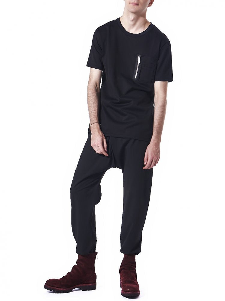 Zip-Pocket Tee (CD16W-0503 BLACK) - H. Lorenzo