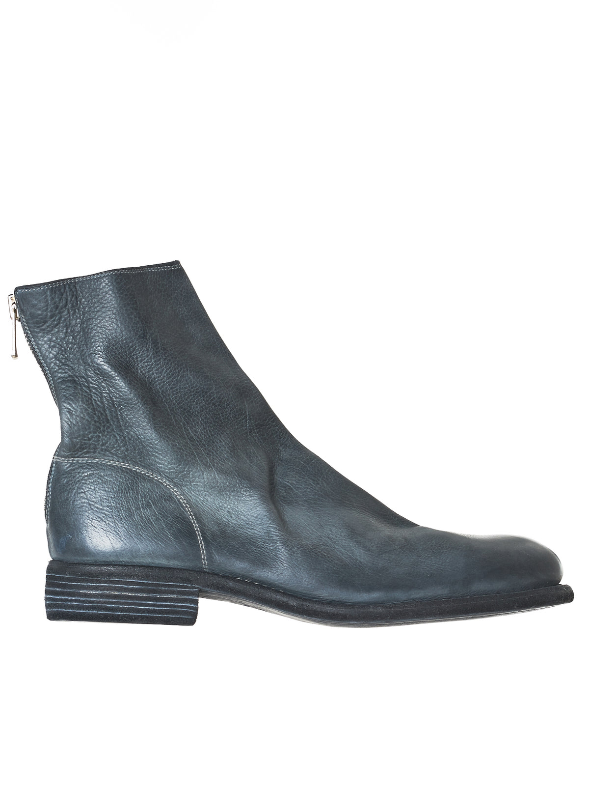 Issey Miyake Men Black Leather Chelsea Boots gCT40