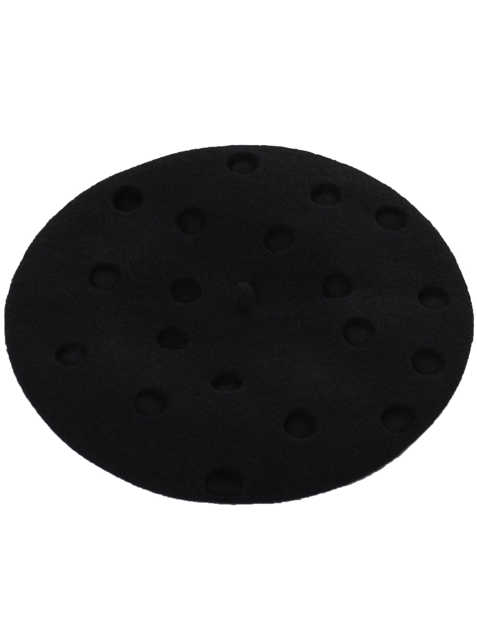 Polkadot Beret (993-FLYING-DUCK-PD11-BLACK)