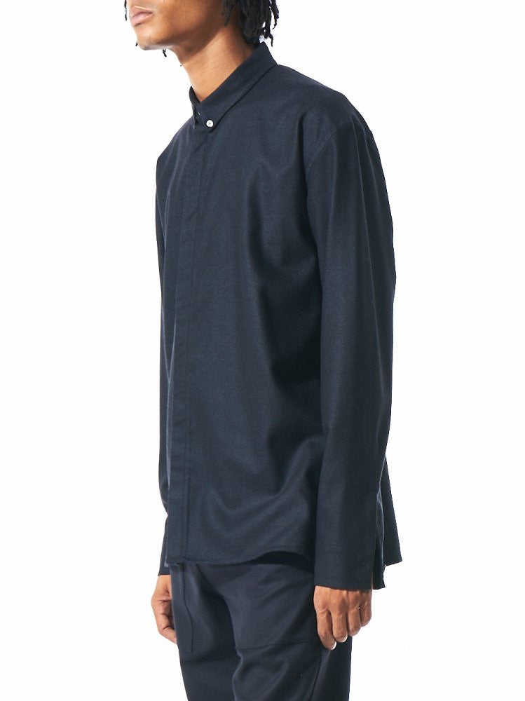 Wool Button-Down Shirt (AW16 03 46 NIGHT) - H. Lorenzo