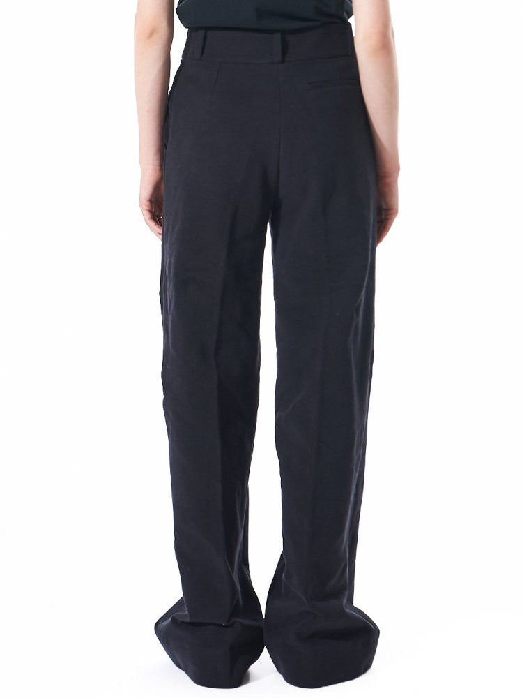 Casual French Terry Palazzo Trouser (FW16W-048 BLACK) - H. Lorenzo